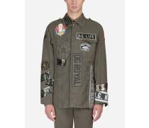 Baumwolljacke mit Militär-Patch