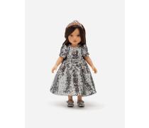 Puppe mit Pailletten-Kleid