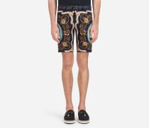 Bedruckte Bermuda-Shorts aus Baumwolle