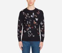 Pullover aus Seide mit Print