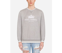 Sweatshirt aus Bedruckter Baumwolle