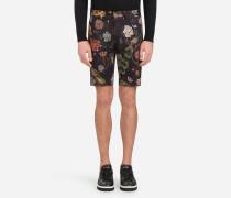 Bermuda-Shorts aus Bedrucktem Baumwolldrillich