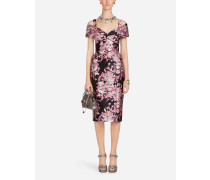 Kleid aus Jaquard-Lurex