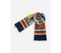 Schal aus Kaschmir und Bedruckter Seide