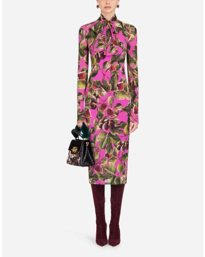 Kleid aus Bedruckter Seide