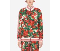 Sweatshirt aus Cady mit Portofino-Print