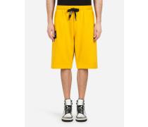 Joggingbermuda-Shorts aus Baumwolle mit Patch