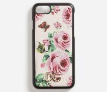 Cover für Iphone 7 aus Bedrucktem Dauphine-Kalbsleder