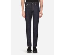 Skinny Stretch Jeans Dunkelblau