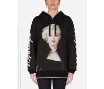 Kapuzensweatshirt AUS Jersey MIT Marilyn Monroe-Print