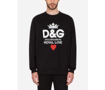 Sweatshirt aus Baumwolle mit D&g-Print