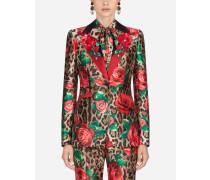 Single-Breasted Jacket in Silk