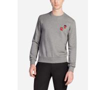 Sweatshirt aus Baumwolle mit Designer-Patch
