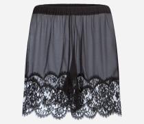 Dessous-Shorts aus Seide mit Spitzenbesatz