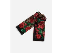 Pareo aus Baumwolle mit Leoparden/rosen-Print 135 x 200
