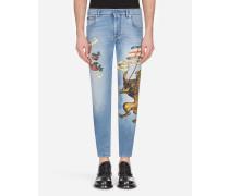 Skinny Stretch Jeans Dg-Print