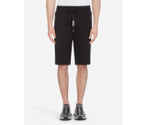 Joggingbermuda-Shorts aus Baumwolle mit Stickerei
