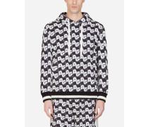 Kapuzen-Sweatshirt aus Baumwolle D&G ALL Over-Print