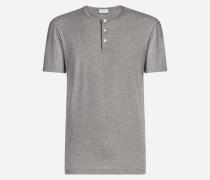 T-Shirt Serafino aus Baumwollmodal