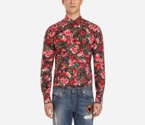 Capri Fit Hemd aus Bedruckter Baumwolle