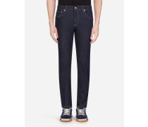 Stretch-Jeans Slim mit Patch