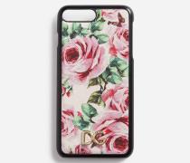 Iphone 7 Plus Hülle aus Bedrucktem Dauphine-Kalbsleder