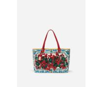 Shopper-Tasche Beatrice aus Bedrucktem Kalbsleder
