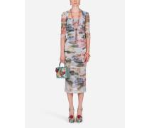 Longuette-Kleid AUS Tüll Blumen-Print