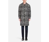 Jacke aus Wolle mit Karos