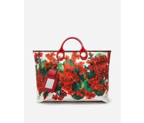 Grosser Capri Shopper aus Canvas Portofino-Print