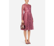 Chantilly Lamé Lace Midi Dress