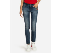 Jeans Pretty Fit aus Denim-Stretch