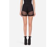 Shorts aus Netzmaterial