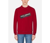 Sweatshirt mit Rundhalsausschnitt und Logo