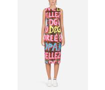 Viskose-Kleid mit LEO Pop-Print