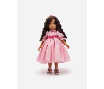 Puppe mit Chiffon-Kleid
