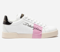 Sneaker Portofino aus Kalbsnappaleder mit Lack-Finish