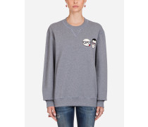Sweatshirt aus Jersey mit Patches DER Designer