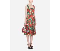 Longuette-Kleid aus Brokat mit Portofino-Print