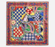 Bedrucktes Foulard aus Seide 70 x 70