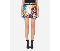 Cady-Shorts mit Superheldinnen-Print