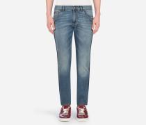 Stretch-Jeans Comfort Fit Gewaschen