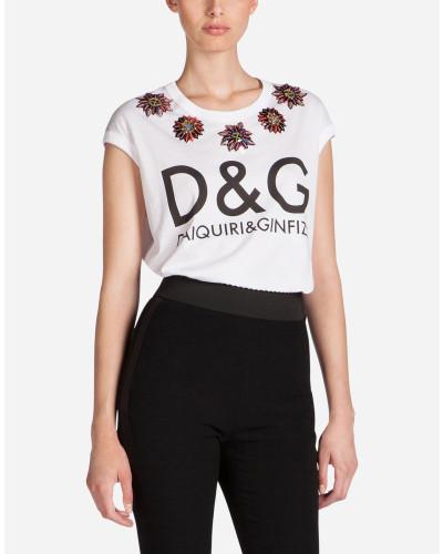 T-Shirt mit Druck Dolce & Gabbana