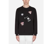 Sweatshirt aus Baumwolle mit Patch