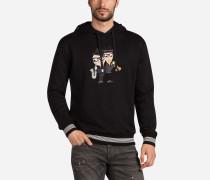Kapuzensweatshirt aus Baumwolle mit Designer-Patch