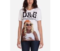 T-Shirt mit Print #lamagadellamoda