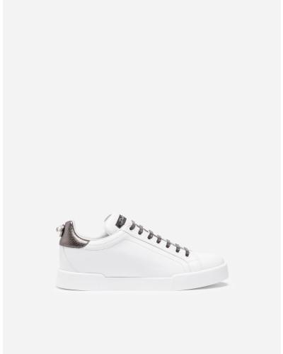 Sneaker aus Leder mit Applikation