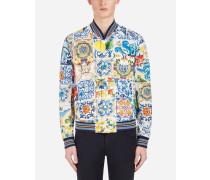 Jacke aus Bedruckter Baumwolle