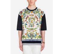 Printed Silk Sweatshirt