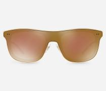 Quadratische Sonnenbrille aus Metall